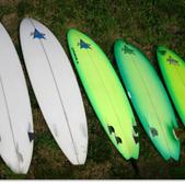 Fiberglass Surfboards by Pearson