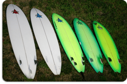 Fiberglass Surfboards Rentals