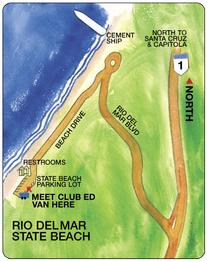 Surf lesson rio del mar